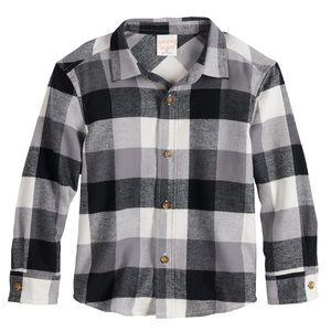 Jumping Beans® Plaid Flannel Button-Up Shirt
